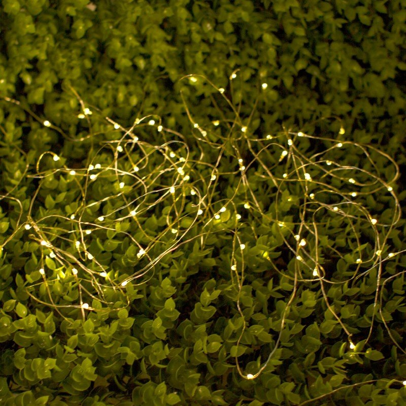 BISKOPSAN LED Solar String Lights. String of 100 LED string solar lights that soak up the summer sun will help you create a beautiful outdoor ambiance in the evening