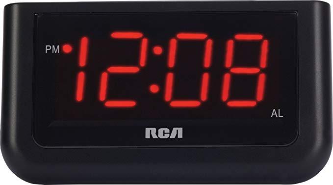 RCA Digital Alarm Clock with Large 1.4 inch Display