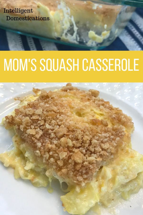 Mom's Squash Casserole Recipe. Mom made the very best old fashioned squash casserole. We could make a meal from this dish. Great side dish for pot lucks and Thanksgiving too.
