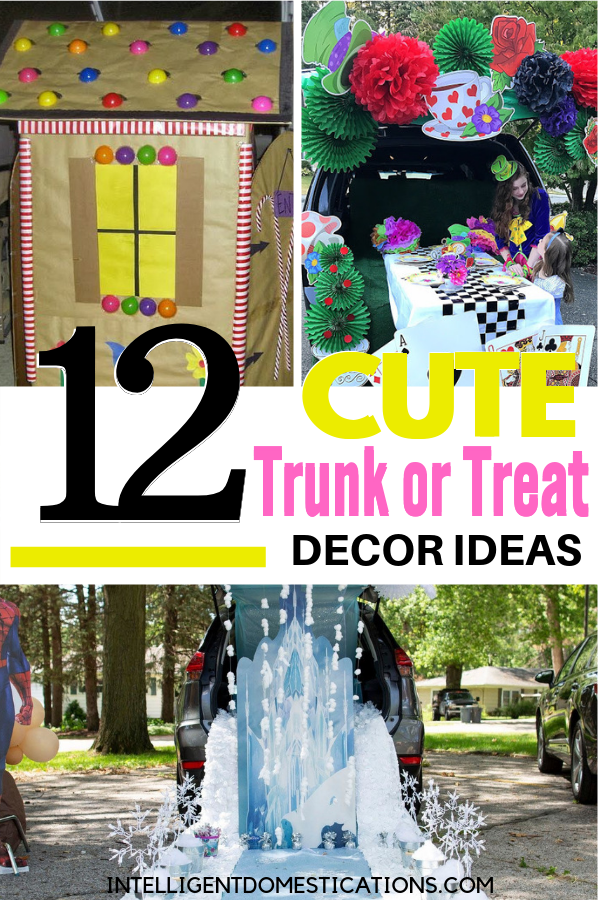 12 Cute Trunk or Treat Decorating Ideas you can make. Frozen, Mad Hatter, Hogwarts and more Trunk or Treat Decorating Ideas PLUS links to dozens more. #trunkortreat