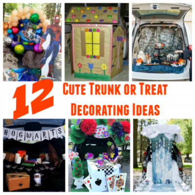 12 Cute Trunk or Treat Decorating Ideas #trunkortreat