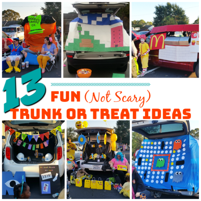 13 Fun Not Scary Trunk or Treat Decorating Ideas #trunkortreat
