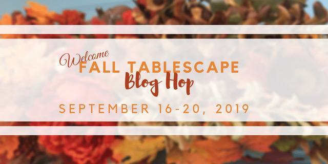 Fall Tablescape Blog Hop. Fall Table Decor Ideas