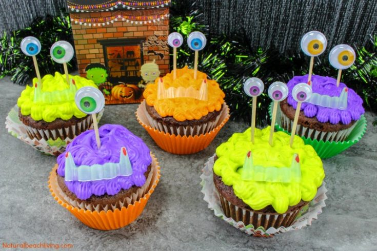 Easy to Make Halloween Monster Cupcakes