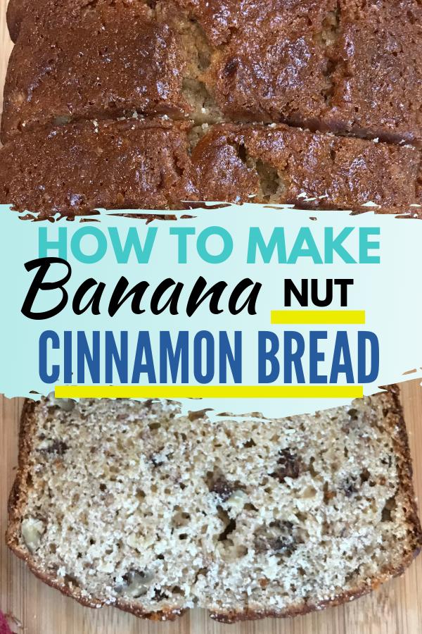 Easy Banana Bread Recipe. We call it Banana Nut Bread but you can also call it Cinnamon Banana Nut Bread and it's an easy recipe that you stir with a spoon! Pecans and Cinnamon are optional if you prefer plain Banana Bread.#bananarecipe #homemadebread #bananabread