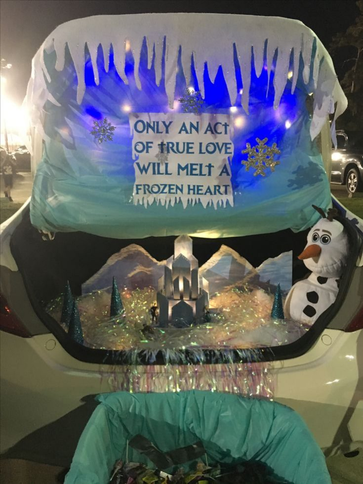 Trunk or Treat Frozen Theme