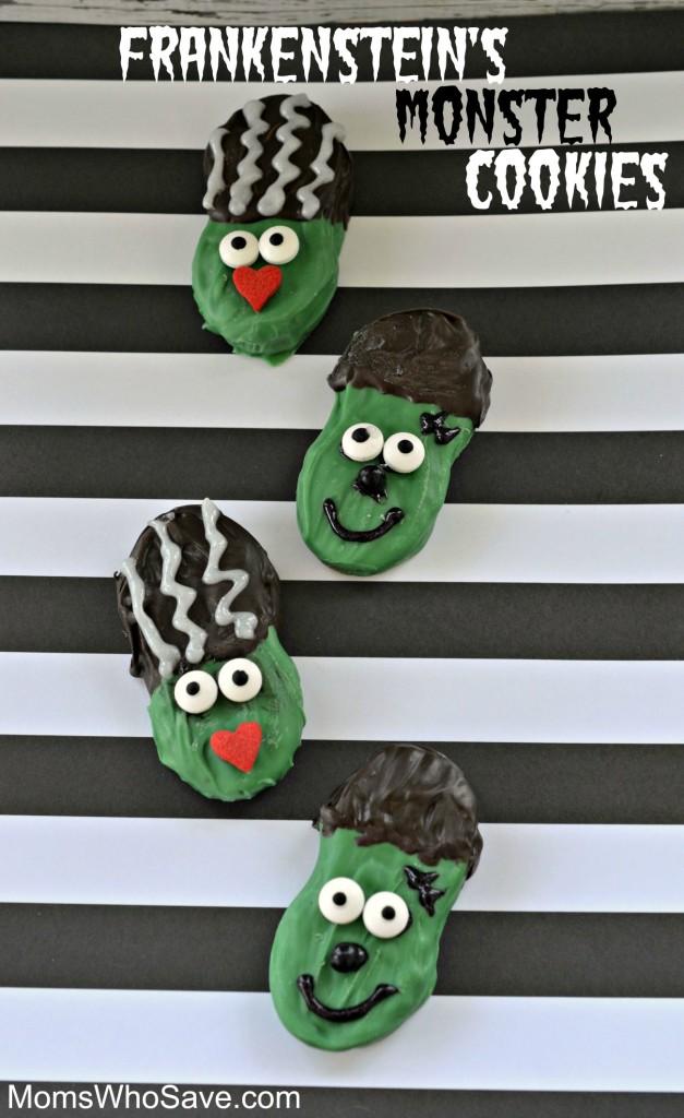 Frankenstein's Monster and Bride of Frankenstein Cookies | MomsWhoSave.com