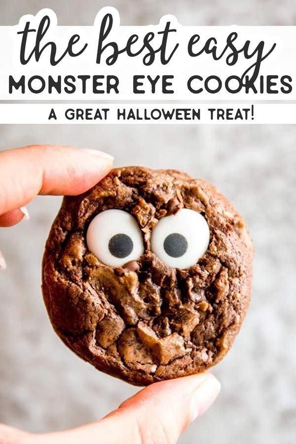 Cute Monster Eye Cookies