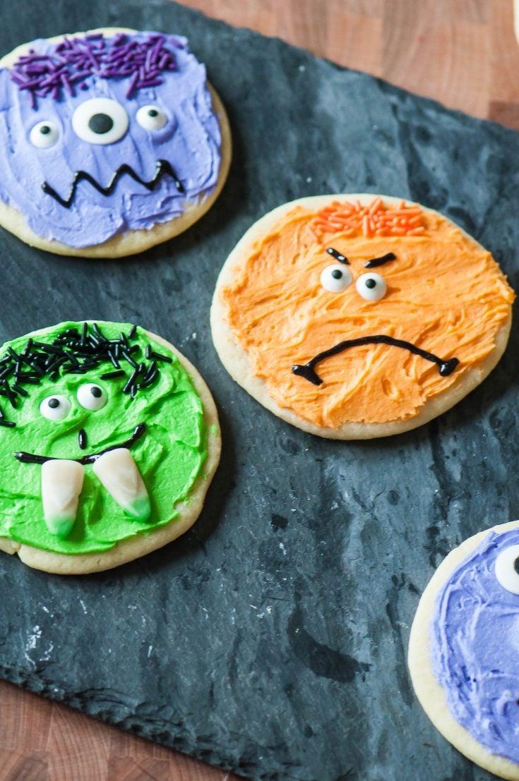 Halloween Monster Sugar Cookies