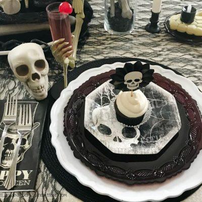 Halloween Skeleton Tablescape