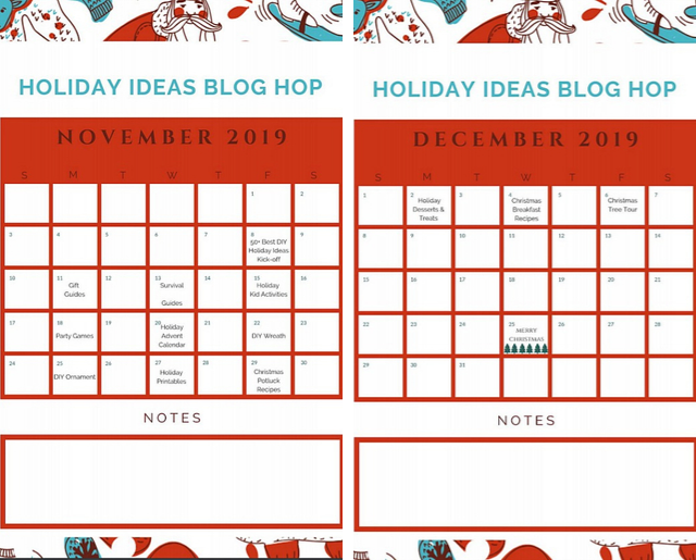 12 Days of Holiday Ideas Blog Hop 2019. You will find oodles and oodles of new ideas to make your Holiday season exciting this year