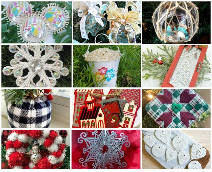 Looking for new DIY Ornament Ideas for your Christmas Tree? Here you go. This collection of crafty Christmas Ornaments comes from an Ornament Exchange party between bloggers held every year.