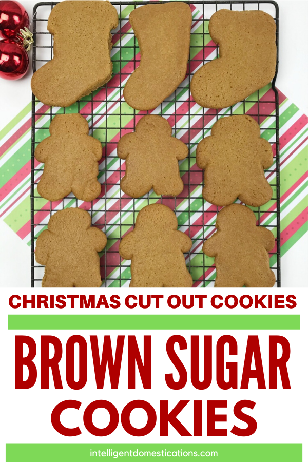 Everyone loves these Brown Sugar Cookies we make for Christmas. These homemade cookies can be shaped by hand of cut out with cookie cutters for any occasion. We like to make them into Christmas Cut Out Cookies using the Gingerbread Man and Stocking Cookies Cutters.