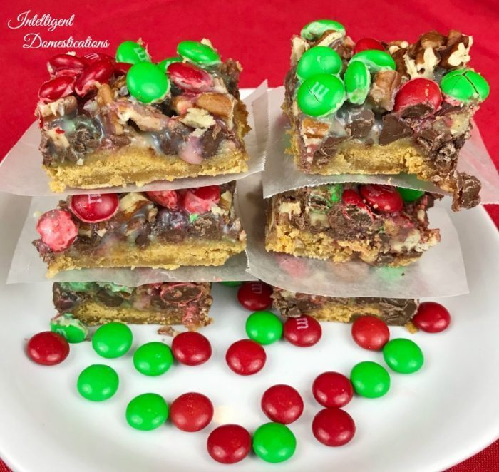 Christmas Magic Cookie Bars - Intelligent Domestications
