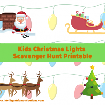 Easy Kids Christmas Lights Scavenger Hunt Printable