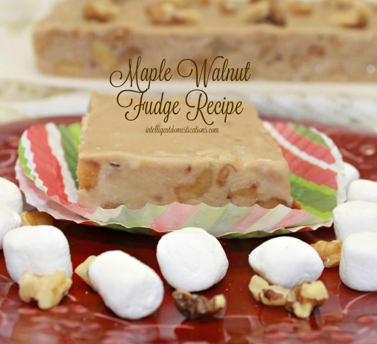 Maple Walnut Fudge Recipe