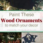 Pre-cut balsa wood Christmas tree ornaments painted