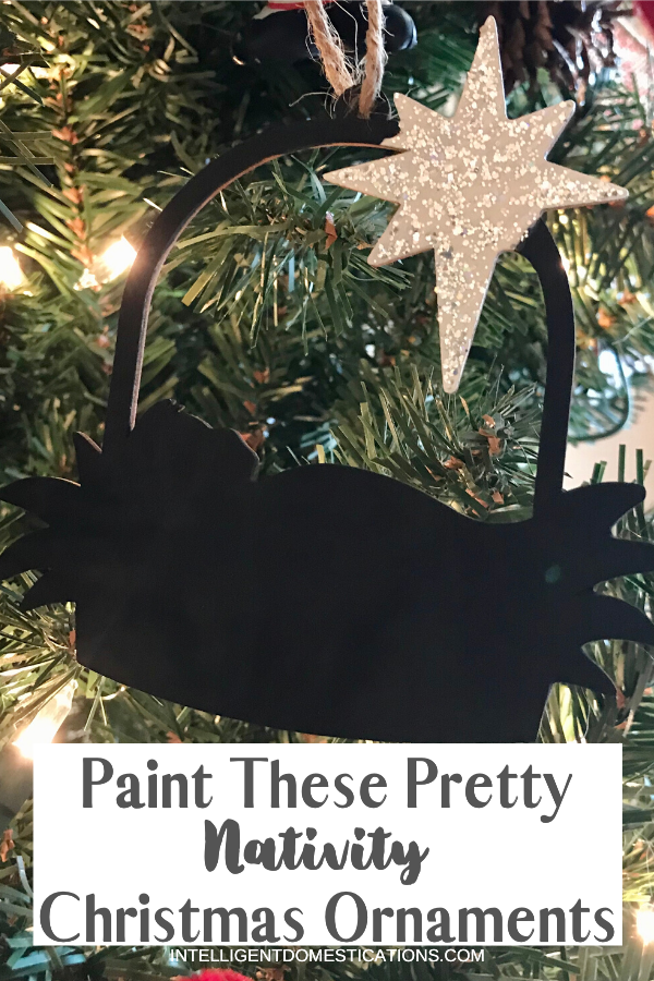 Paint these Nativity Christmas Ornaments for your Christmas Decor. These unfinished wood ornaments are a quick and easy Christmas Craft. Use them for gift tags or as ornaments on the tree.