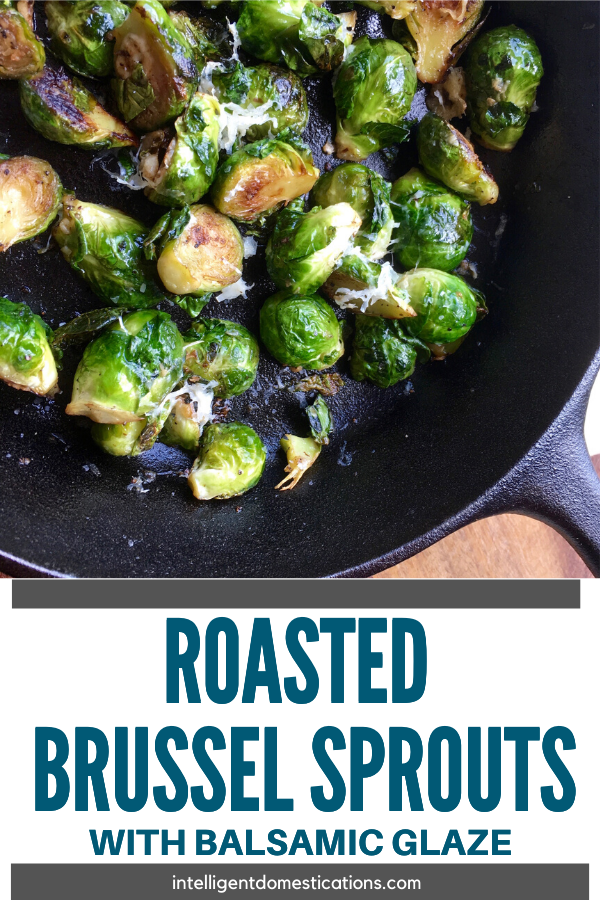 Roasted Brussel Sprouts Recipe with Balsamic Glaze