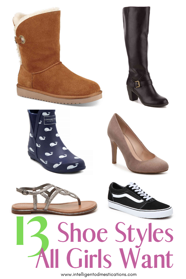 13 Must Have Shoes for Every Girl. Shoe styles to complete your wardrobe