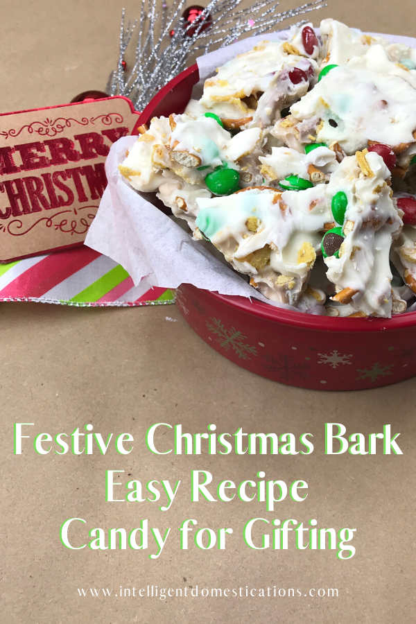Festive Christmas Bark candy is easy and perfect for gifting. This favorite Christmas candy is good to snack on while watching Christmas movies too