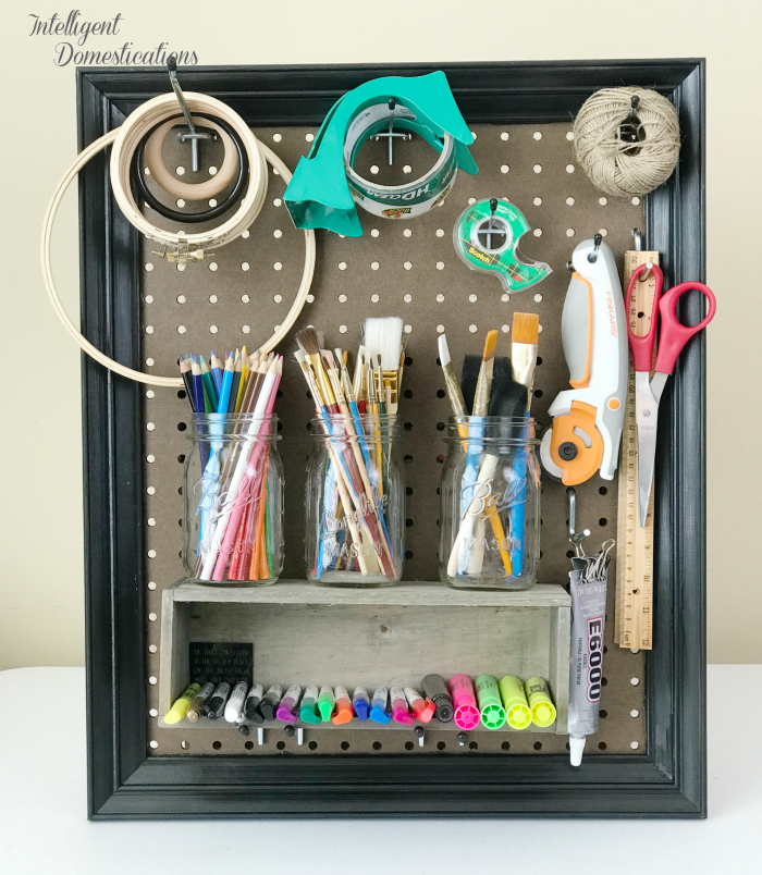 DIY Framed Peg Board - Intelligent Domestications