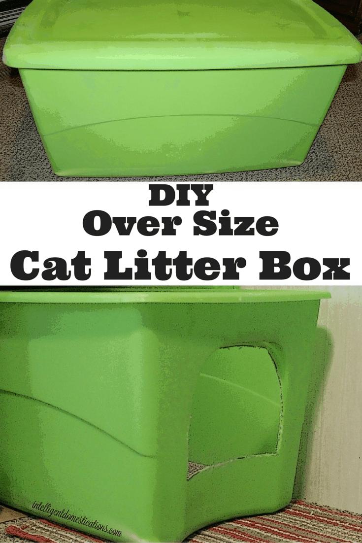 DIY Oversize Cat Litter Box