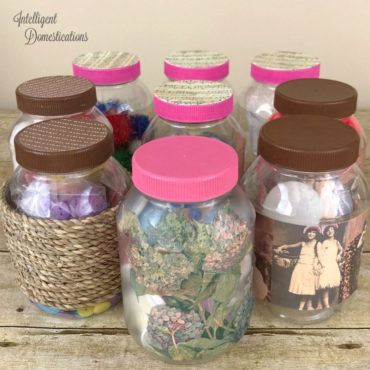 Repurpose Mayonnaise Jars Into Pretty Craft Storage Containers