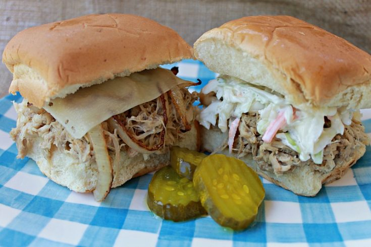Crockpot Ranch Chicken Sliders
