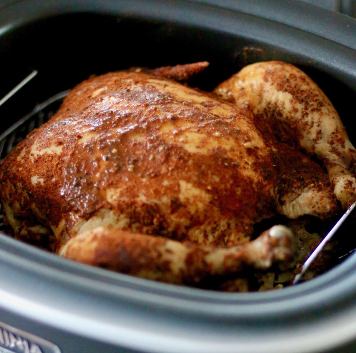 Crock Pot Whole BBQ Chicken | The Country Cook slow cooker
