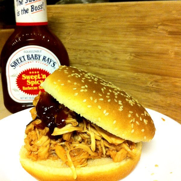Crockpot Chicken: Sweet & Spicy BBQ