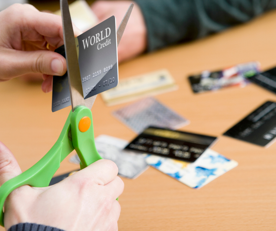 Cut up those credit cards and start paying cash