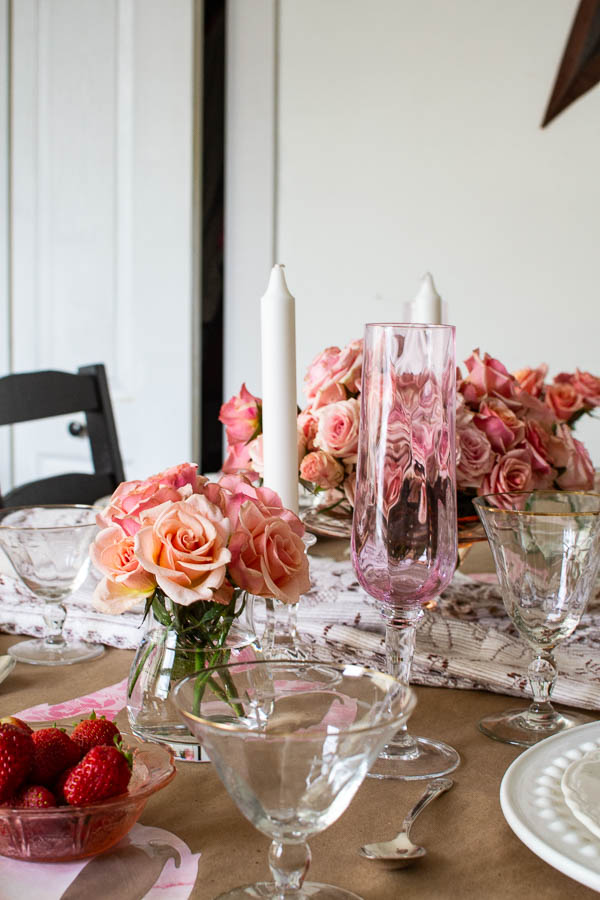 Pretty in Pink Valentine's Table Decor