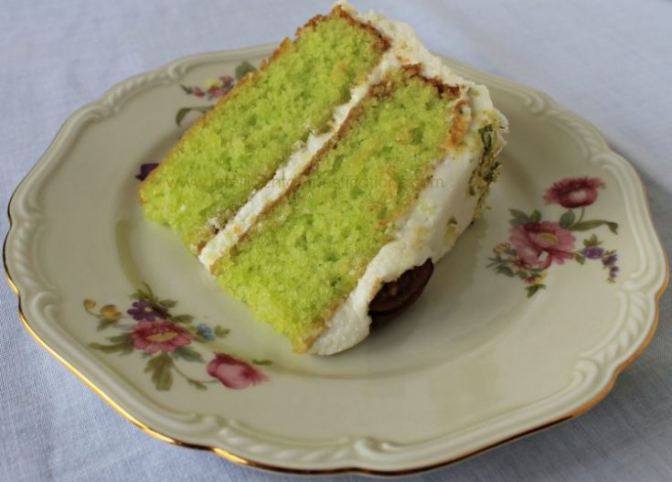 Key Lime Cake with Key Lime Cream Cheese Frosting