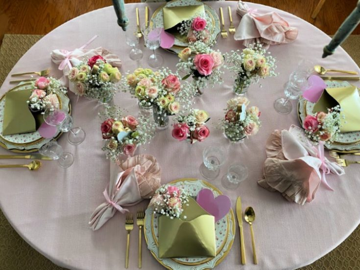 Will You Be My Valentine Tablescape