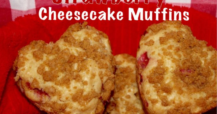 STRAWBERRY CHEESECAKE HEART MUFFINS