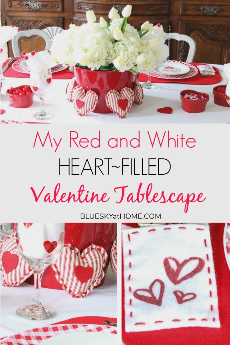 My Red and White Valentine Tablescape