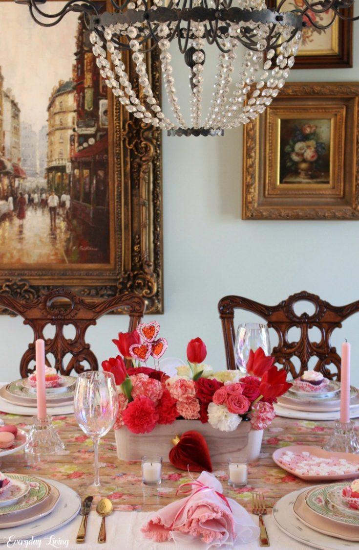 L-O-V-E {A Valentine's Day Tablescape}