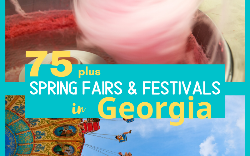 75 plus Spring Fairs and Festivals in Georgia. This list is updated each Spring to include the most recent information available for dates, times, locations and links for more information from each event. We also publish a Fall Fairs and Festivals list in late summer. #visitgeorgia #intellid