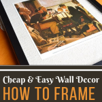 Create your own cheap and easy wall decor with this tutorial on how to frame a book page. Living room wall decor ideas. #diydecor #diywalldecor