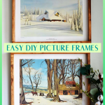 How To Make these easy and affordable DIY Picture Frames yourself! Easy to follow tutorial. #diywalldecor #diydecor