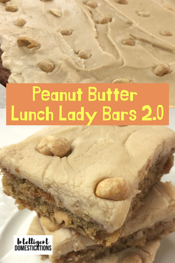 Homemade Peanut Butter Lunch Lady Cake Bars with Peanut Butter Frosting. Recipe includes made from scratch cake batter with and that scrumptious Peanut Butter Frosting. #peanutbutterdessert #intellid