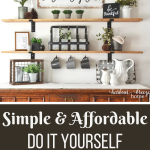 Tips and Tricks for Decorating your living room walls yourself. How to make a simple picture frame. Creative wall art ideas you can DIY. #wallart #diydecor