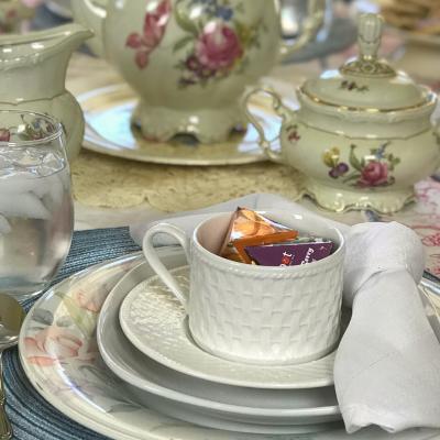 Spring Tea Tablescape