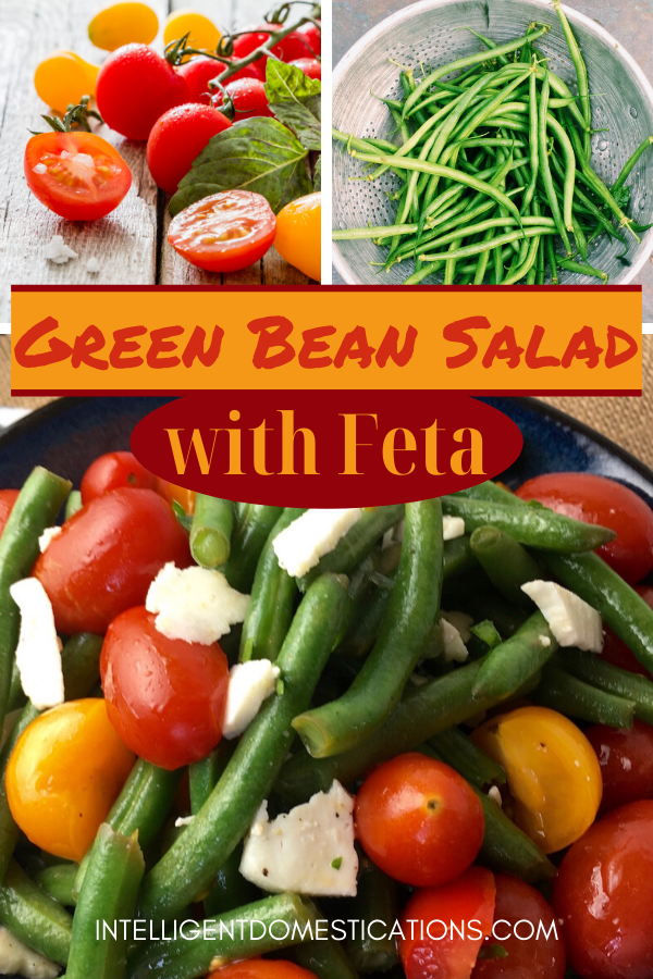 Easy recipe for fresh Green Bean Salad with Tomatoes and Feta. Serve as a meal or as a Side Dish for a summer BBQ. You get the crunch of the green bean along with slightly tangy and a bite of salty all combined. #salad #greenbeans #summerfood #greenbeansalad