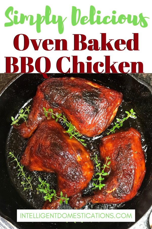 Simply the best Oven Baked BBQ Chicken you can make. Easy recipe with only 5 ingredients. Chicken leg quarters baked and basted with BBQ Sauce are scrumptious anytime. #BBQChicken #BakedChicken #BBQWeek #Easychickenrecipe