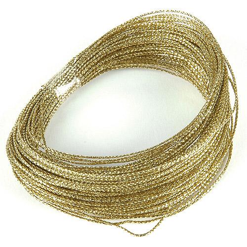 Darice Bowdabra Gold Wire 50 Ft. - Walmart.com