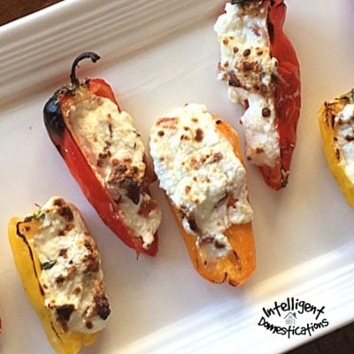 Cheesy Bacon Stuffed Sweet Mini Peppers