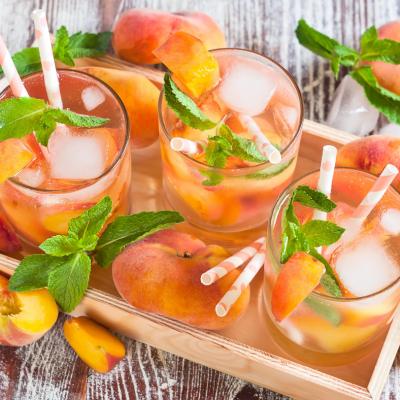 Ginger Peach Sweet Iced Tea
