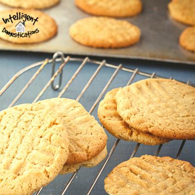 Homemade Peanut Filled Peanut Butter Cookies